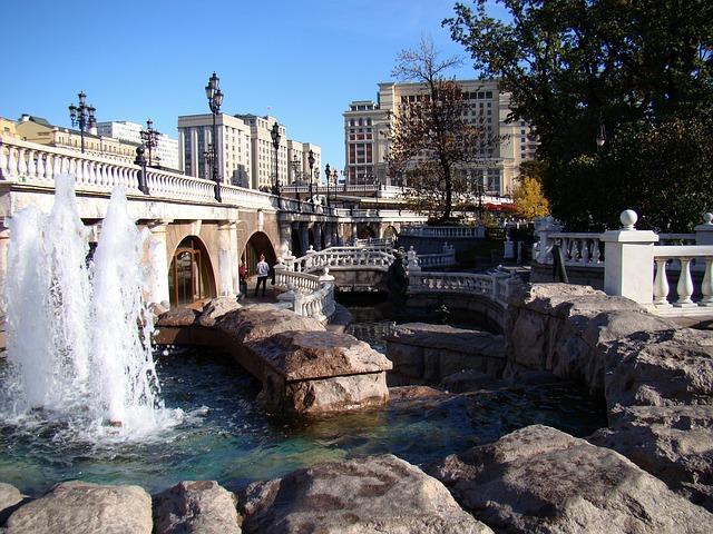 Brunnen in den Alexandrowskii Gärten