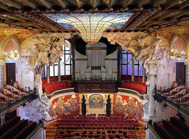 "Konzertsaal ""Palau de la Musica de Catalana"" (Retrieved from Flickr - kkmarais)"