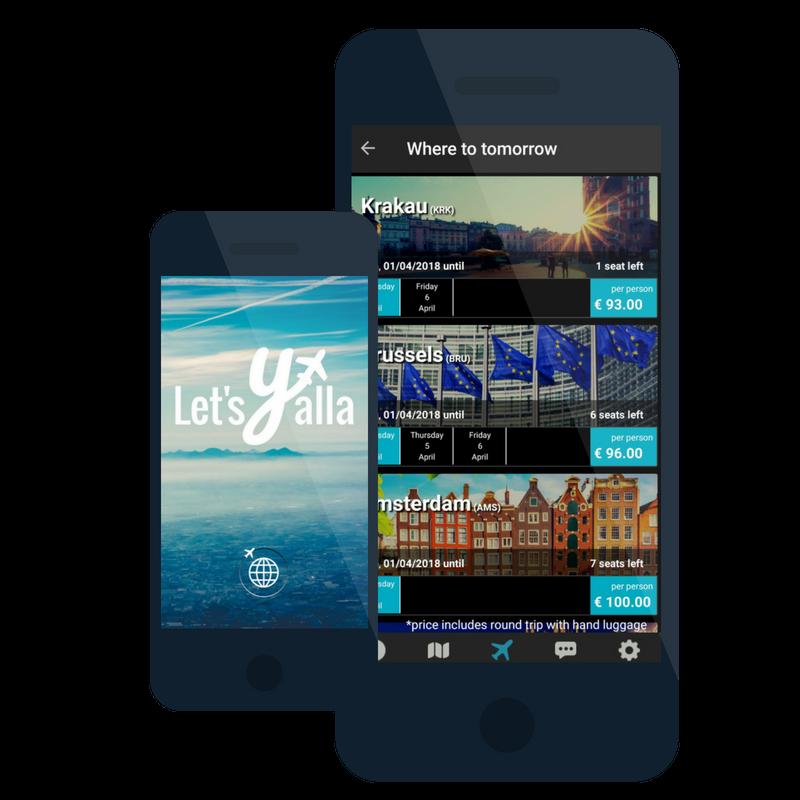 Die App von Let's Yalla (Retrieved from Let's Yalla)