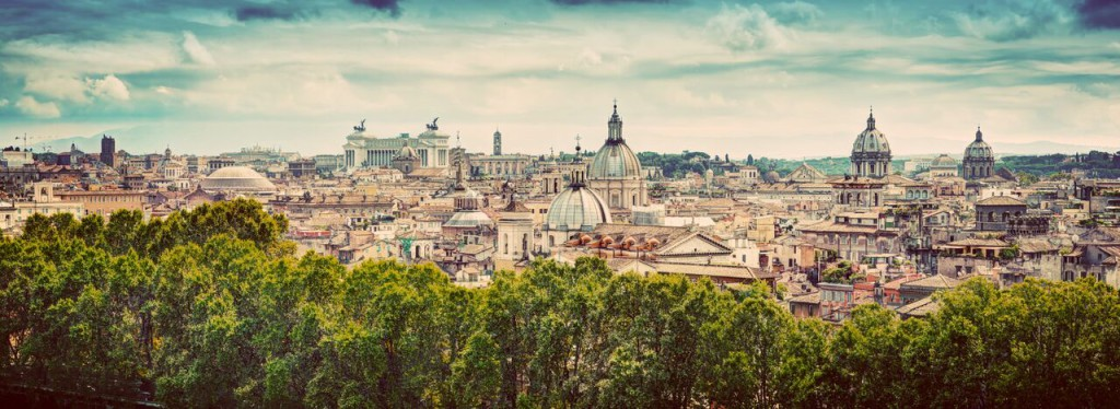 Rome_Italie_Panorama of the ancient city of Rome, Italy. Vintage_92142162_preview-min