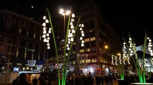 Strasse Innenstadt bei Nacht