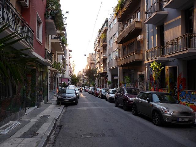 Straße in Exarchia (retrieved from: flickr - stanjourdan)
