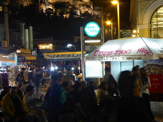 Auch spät nachts ist Athen noch belebt (retrieved from: flickr - tom schatzky)