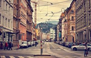 Straße in der innsbrucker Innenstadt