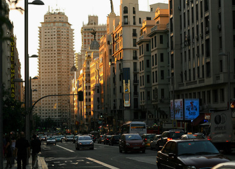 Abenddämmerung in Madrid